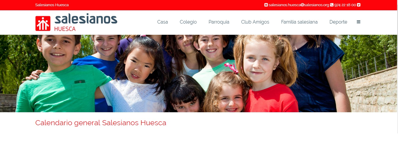 Calendario de actividades de los salesianos en Huesca