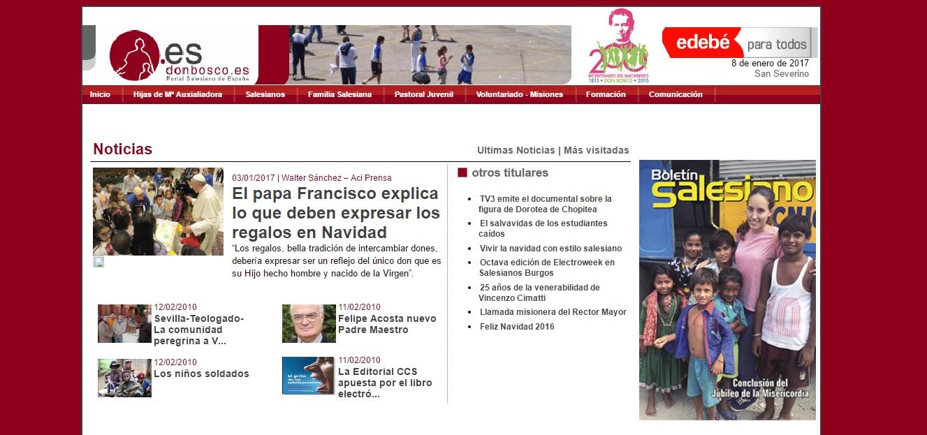 Web del portal salesiano de España
